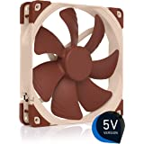 Noctua NF-A14 5V, Premium Quiet Fan with USB Power Adaptor Cable, 3-Pin, 5V Version (140mm, Brown)