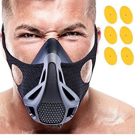 VEOXLINE Training Mask | Sport Workout for Running Biking Fitness Jogging Cardio Endurance Exercise Breathing with