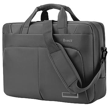 La bolsa de ordenador portátil de 15,6 pulgadas, BRINCH Maletín espacioso nylon bolsa