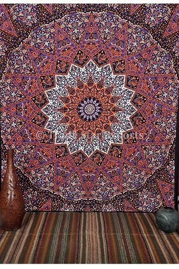 Indian Star Mandala Teppich, Queen-Size-Hippie Kunstdrucke ...