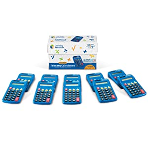 Learning Resources Primary Calculator, Solar Powered, Set of 10, Ages 3+