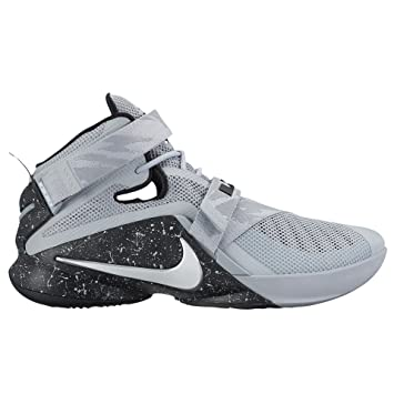 Amazon.com  Nike Mens Lebron Soldier IX Premium Basketball Shoes 9 M US  Wolf Grey Black  Everything Else 6e72f356856d