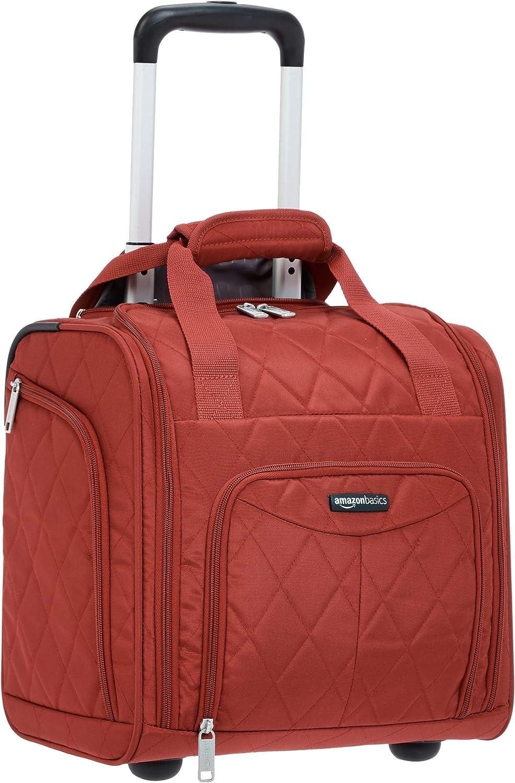 AmazonBasics – Maleta que cabe bajo el asiento de un avión, Rojo acolchado