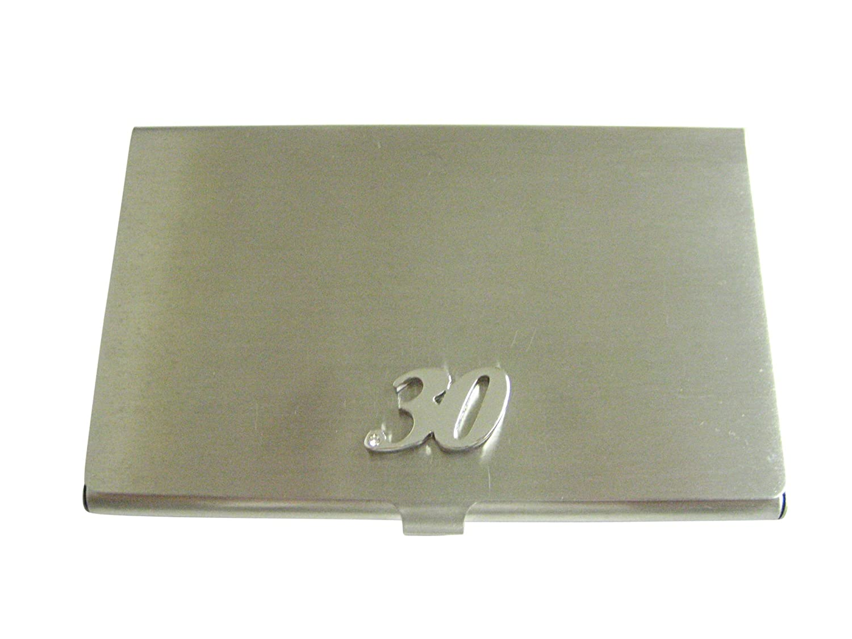 Silver Toned 30年ビジネスカードホルダー   B06XGZS3QG