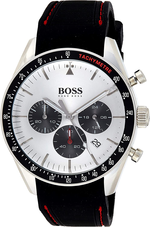 Hugo BOSS Reloj Cronógrafo para Hombre de Cuarzo con Correa en Silicona 1513627