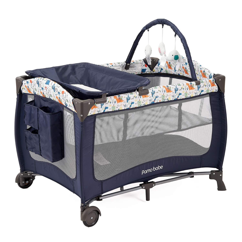 San Francisco Mall Pamo Babe Deluxe Nursery Center Playard with Memphis Mall Bassinet Portable
