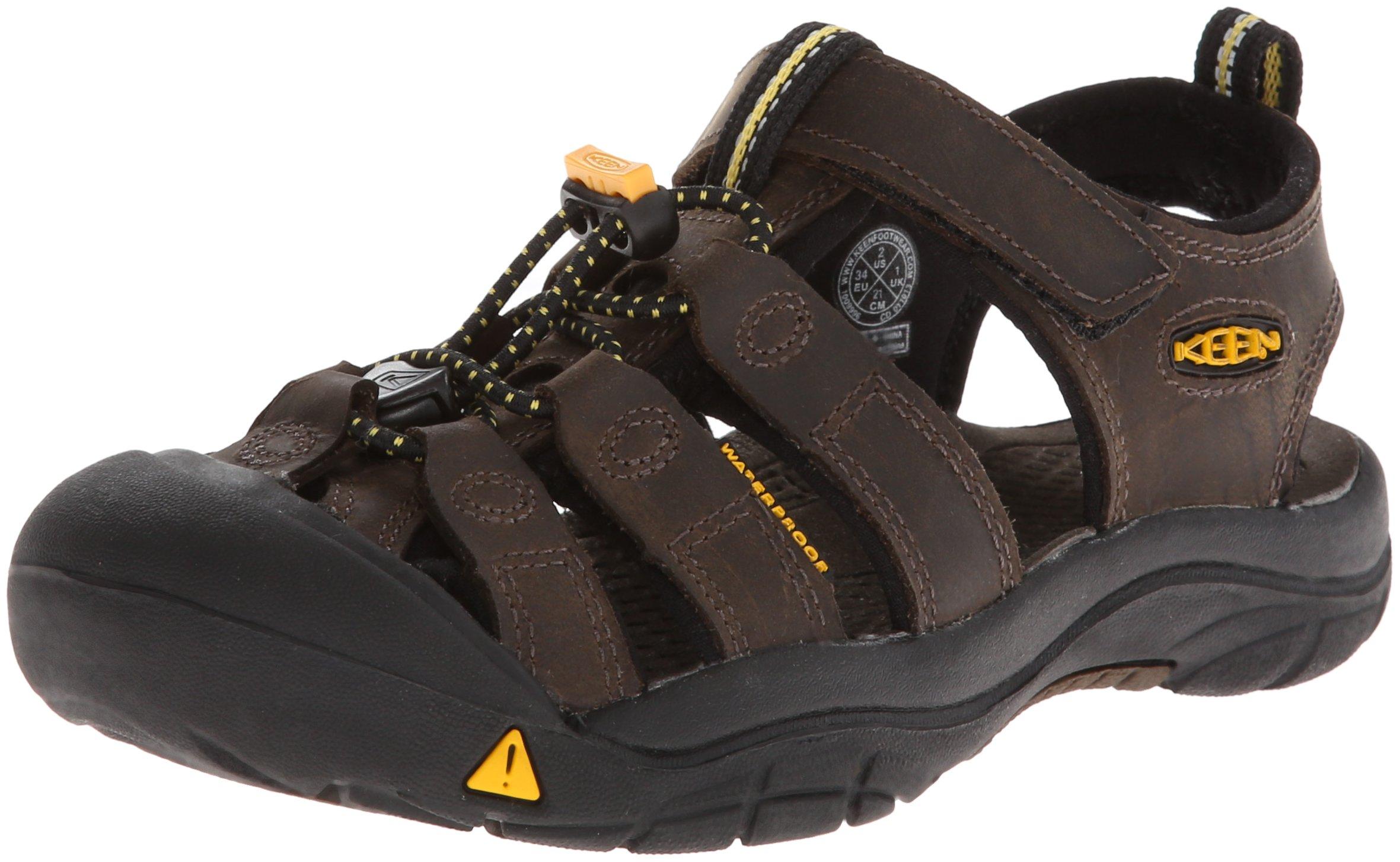 KEEN Newport Premium Sandal (Toddler/Little Kid/Big Kid),Dark Brown