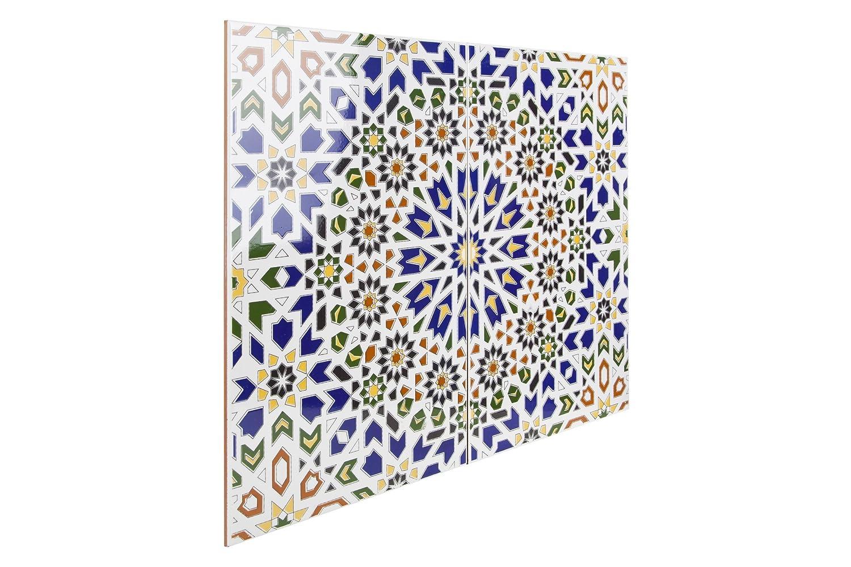 Sch/öne Dekoration im Bad /& K/üchenr/ückwand Cerames Marokkanische Wandfliesen Keramikfliese orientalisch Wadih Mosaik-Muster maurische Fliese 25 x 40 cm 1m/²