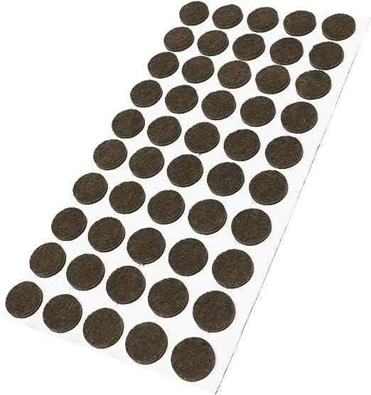 patins de meubles en feutre autocollant de qualit/é sup/érieure Adsamm/® Noir /Ø 12 mm Rond 640 patins en feutre 1,5 mm d/épaisseur