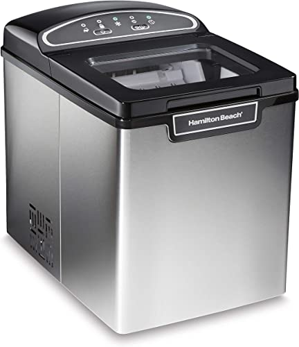 Hamilton-Beach-86150-Countertop-Ice-Maker,-Compact-&-Portable-Design