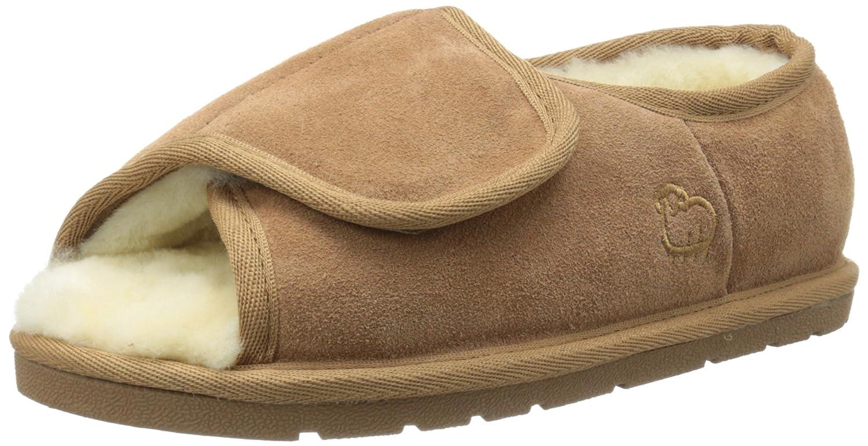 Lamo Women's Lady's Open Toe Wrap Flat B006ICR3DG Small/5-6 M US|Chestnut