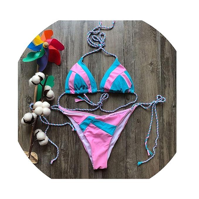 Amazon.com: Sexy Halter Traje de baño Mujer Tanga Micro ...