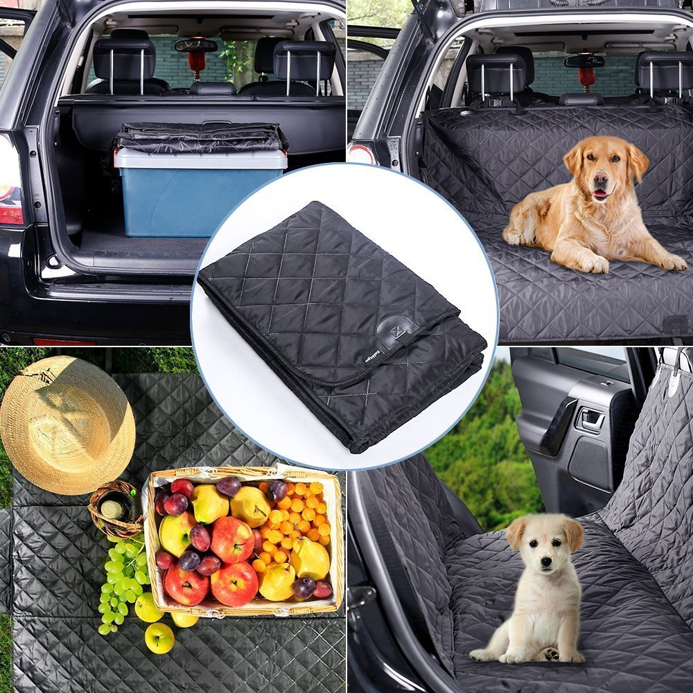 Soft/&Lighter/&Machine Washable Material Universal Fit for All Cars,Trucks,SUV /& Vehicles,147X137cm Black rabbitgoo Dog Car Seat Cover 100/% Waterproof Pet Back Seat Cover Protector Scratch-Proof