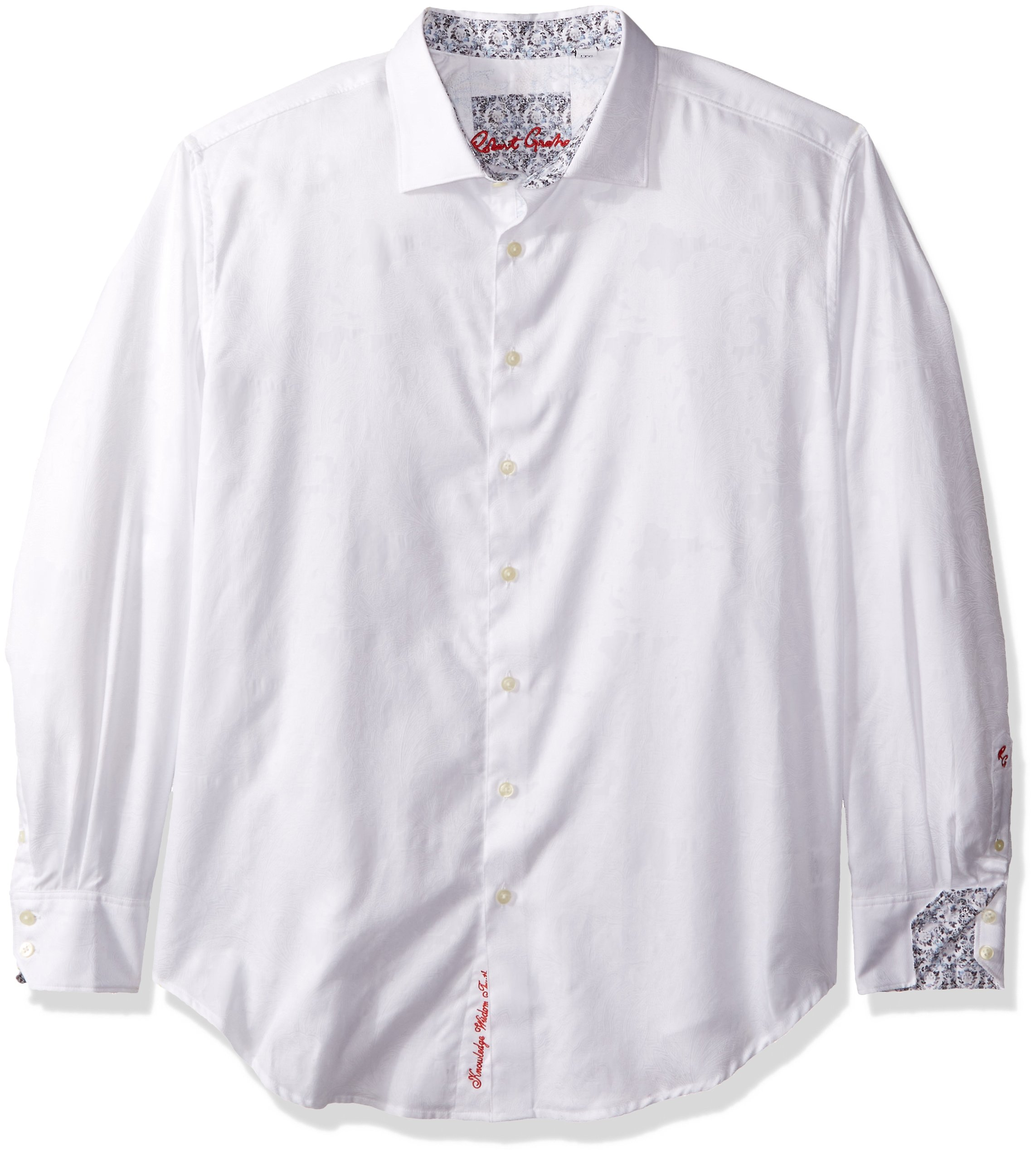 Robert Graham Men's Rosendale L/s Classic Fit Shirt, White 2XL