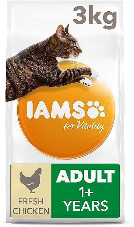 IAMS for Vitality Alimento para Gato Adulto con pollo fresco [3 kg ...