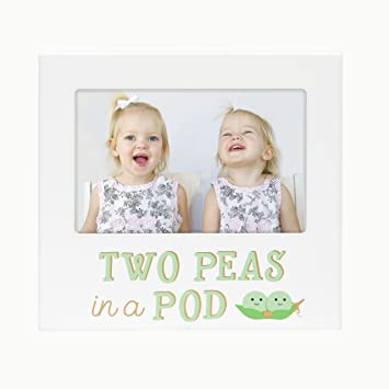 Amazoncom Pearhead Two Peas In A Pod Siblings Sentiment Frame