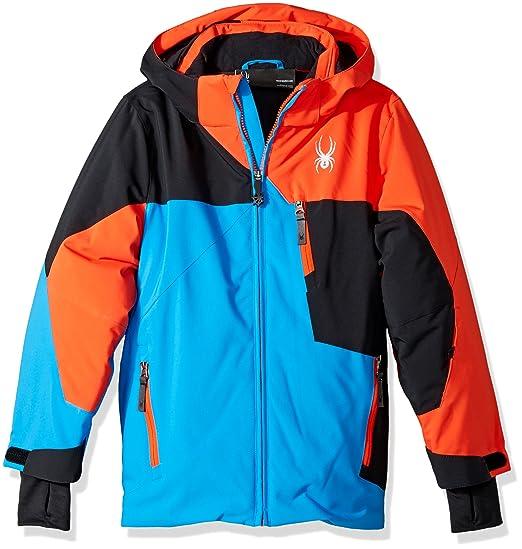 d1d659fc4 Spyder Boy's Ambush Ski Jacket, French Blue/Black/Burst, ...