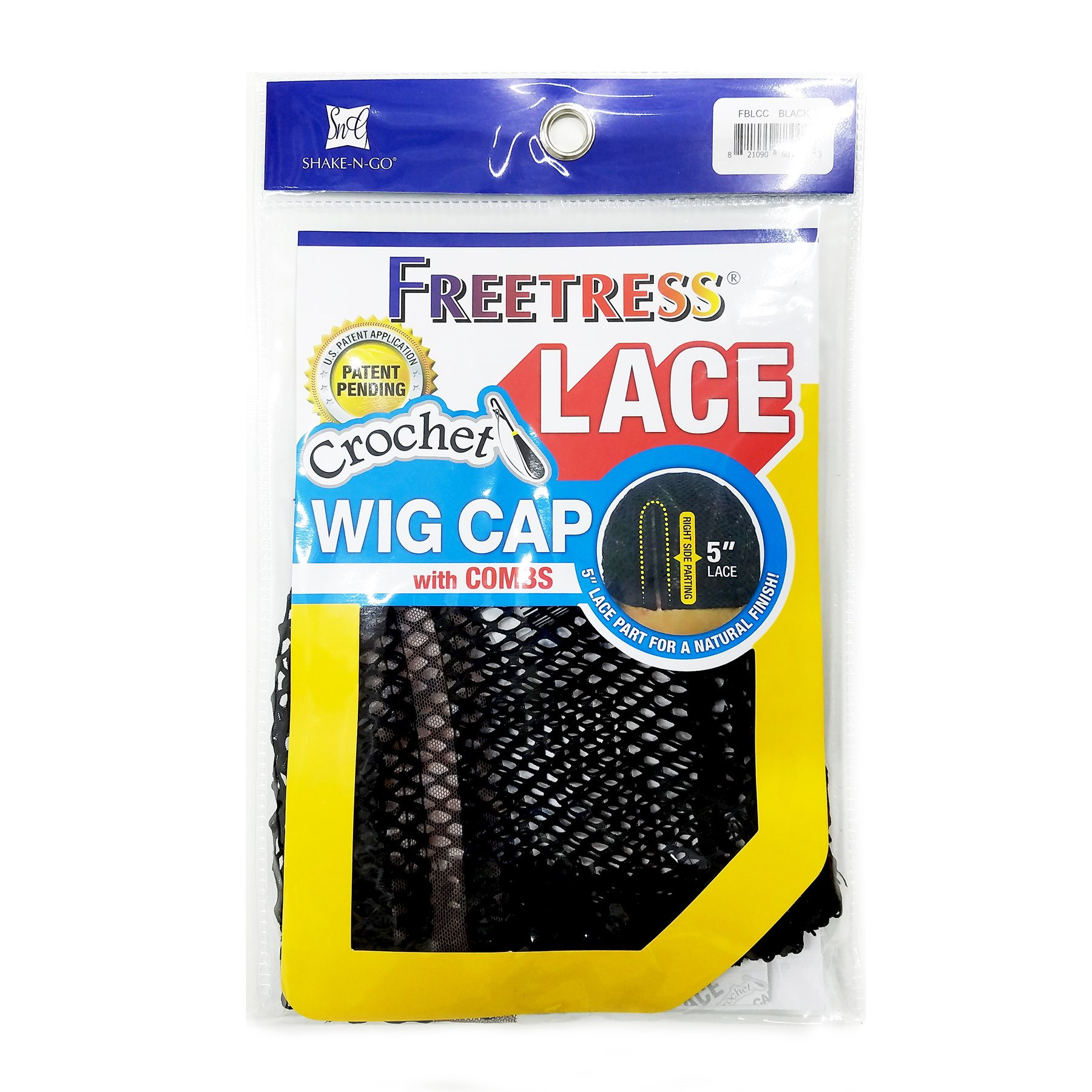 Freetress 5'' Lace Part Crochet Wig Cap with Combs Diamond Shape Net (2 Pack) by Freetress