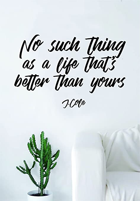 Amazon.com: J Cole No Such Thing V2 Quote Wall Decal Sticker ...