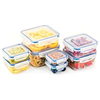 Popit Food Storage Containers 16 Piece Set, 100 Leak Proof - Microwave, Freezer and Dishwasher Safe - Little Big Box, by Popit
