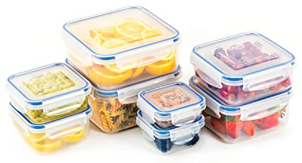 Beautiful Popit Food Storage Containers 16 Piece Set, 100 Leak Proof   Microwave,  Freezer And