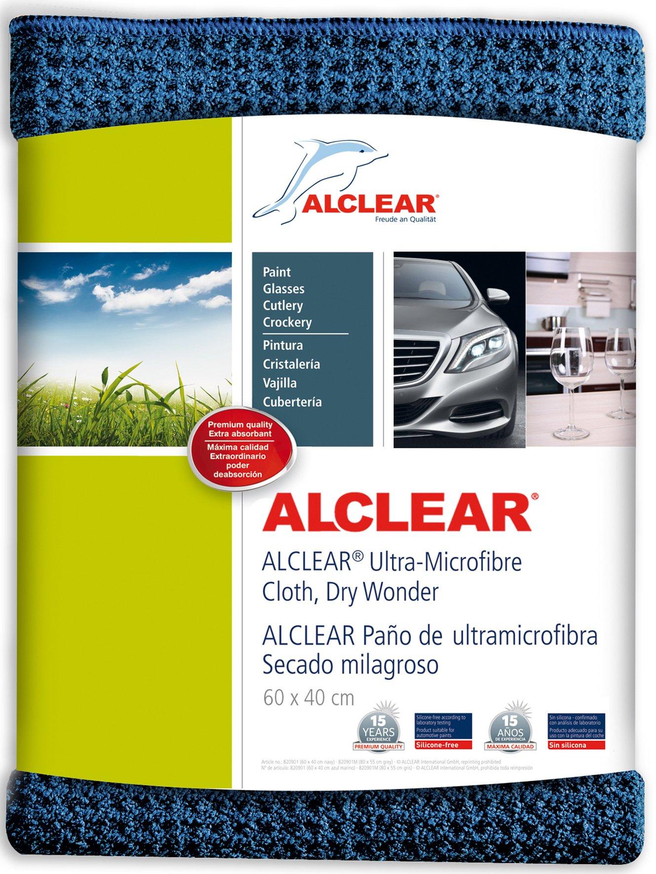 ALCLEAR 820901 Secador mágico, gamuza de microfibra para el coche, para el cuidado del