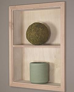 14x18 Unfinished Sloane Wall Niche w/Plain Back and 1 Shelf