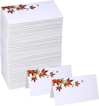 Amazon.com: Winlyn - 100 tarjetas de nombre de mesa con ...