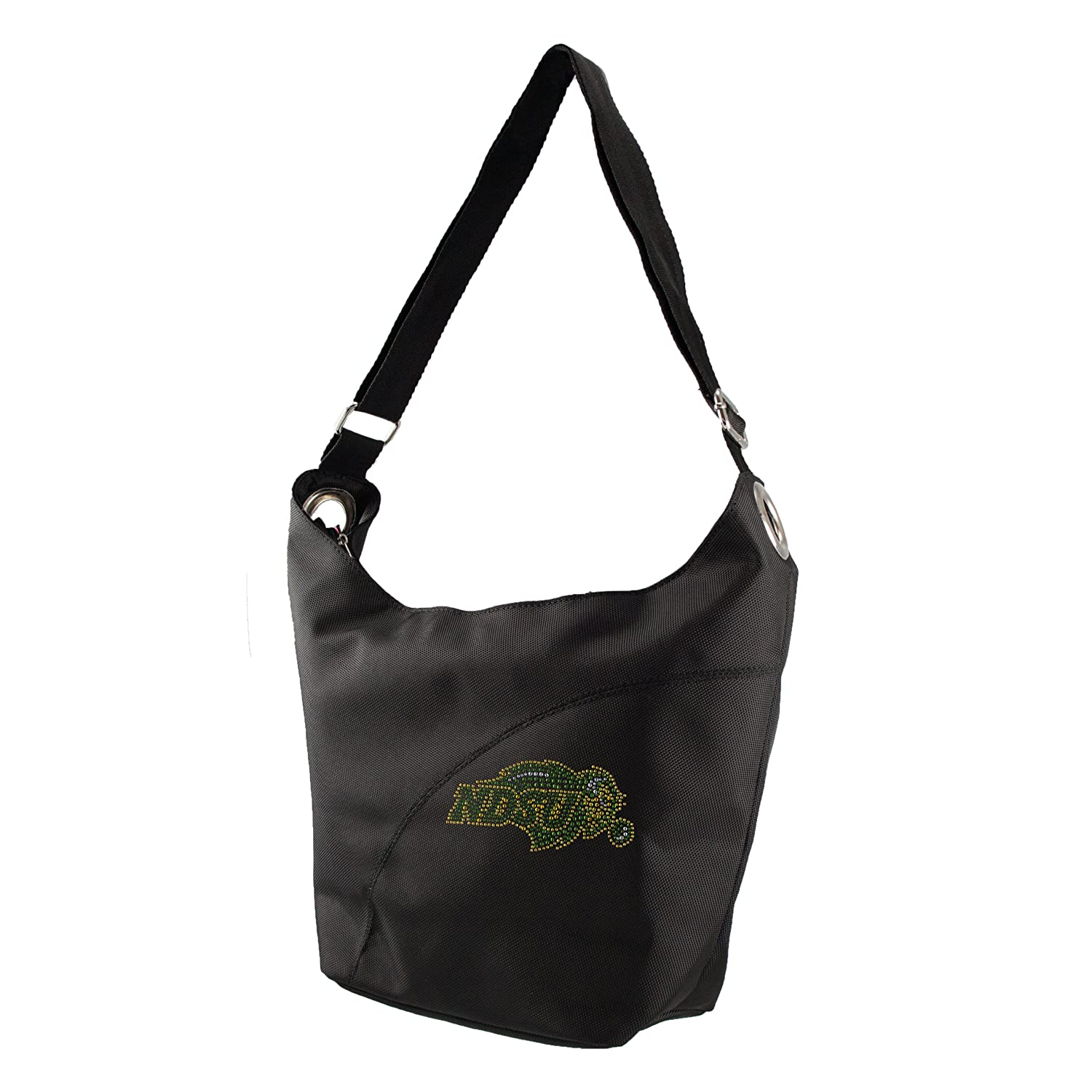 NCAA North Dakota State Bison Sport Noir Glanz Hobo-Tasche, Schwarz