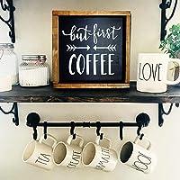 COFFEE BAR SIGN, CARTEL BARRA DE CAFE, CARTEL CAFETERIA, SEÑAL DE CAFE, BUT FIRST COFFEE