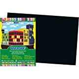Pacon Construction Paper, 12-Inches by 18-Inches, 50-Count, Black (103631)