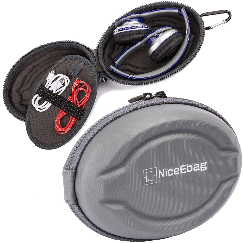 niceebag auriculares funda bolsa de almacenamiento de forma de elipse para auriculares en auriculares inalámbricos auriculares con MP3/MP4/iPod Beats Bose ...