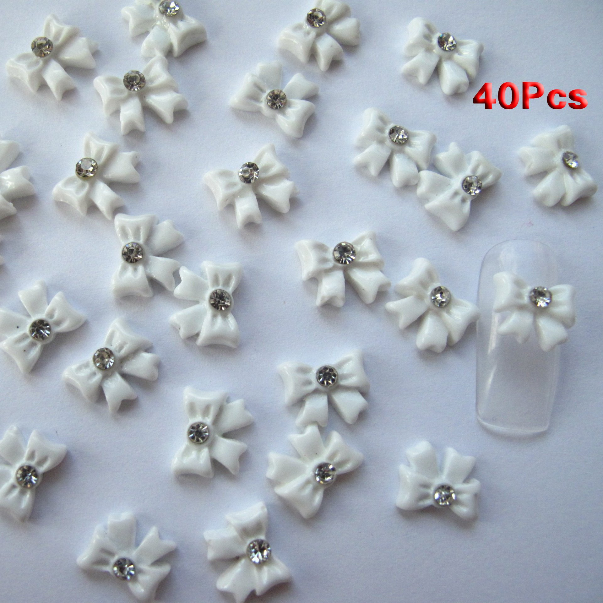 Amazon Nail Art 3d 45 Pieces Mix Bowrhinestone For Nails