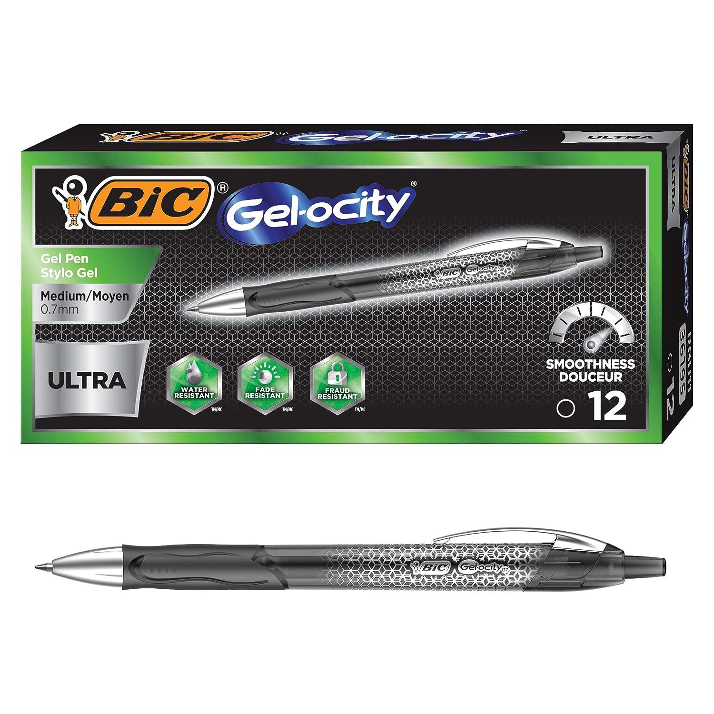 3-Count Black BIC Gel-ocity Ultra Retractable Gel Pen