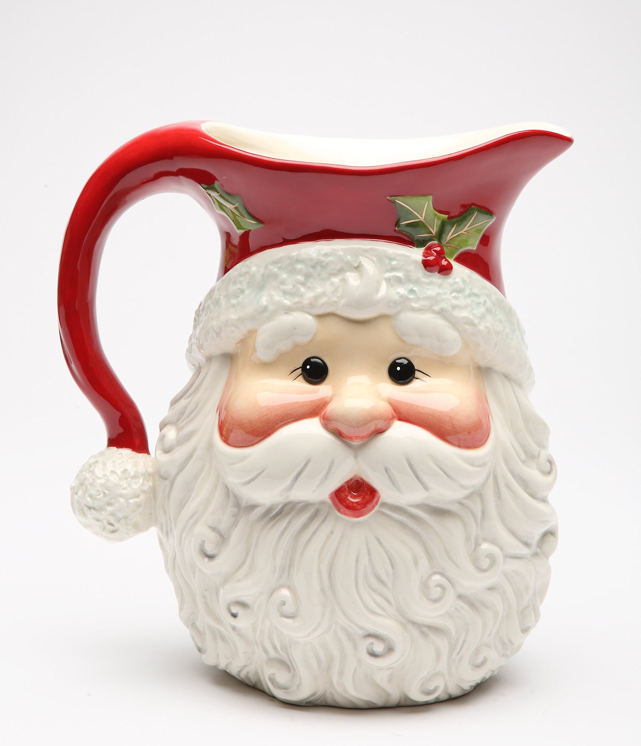 Cosmos Gifts 10636 Fine Ceramic I Believe: Christmas Santa Pitcher, 8'' H by Cosmos Gifts