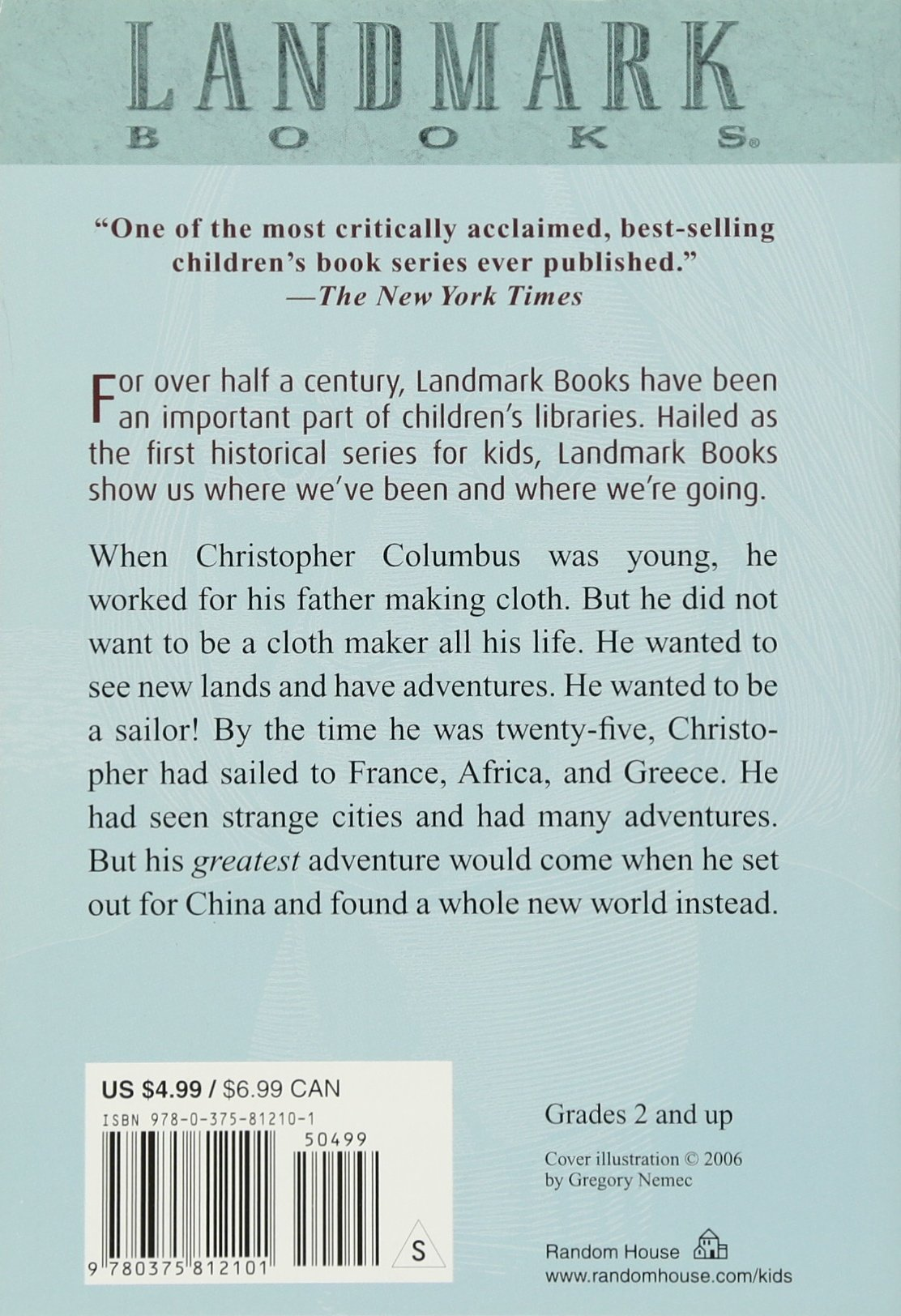 meet christopher columbus landmark books james t de kay john