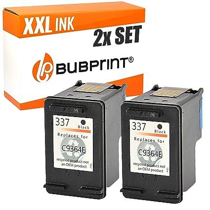 bubprint 2 Cartuchos de impresora compatible para HP 337 ...