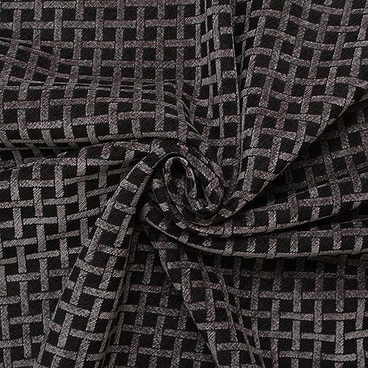 Negro diamantes chenilla tejido efecto patrón sofá cojín ...
