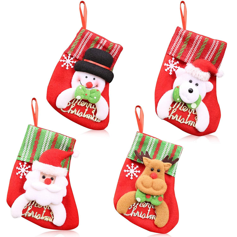 Big Size Christmas Stockings, BZCTAH Classic Xmas Stocks for Decoration Kids Gift Holding Stocking Tree Ornament, Snowman, 17.7x11.4 17.7x11.4 Elecupe