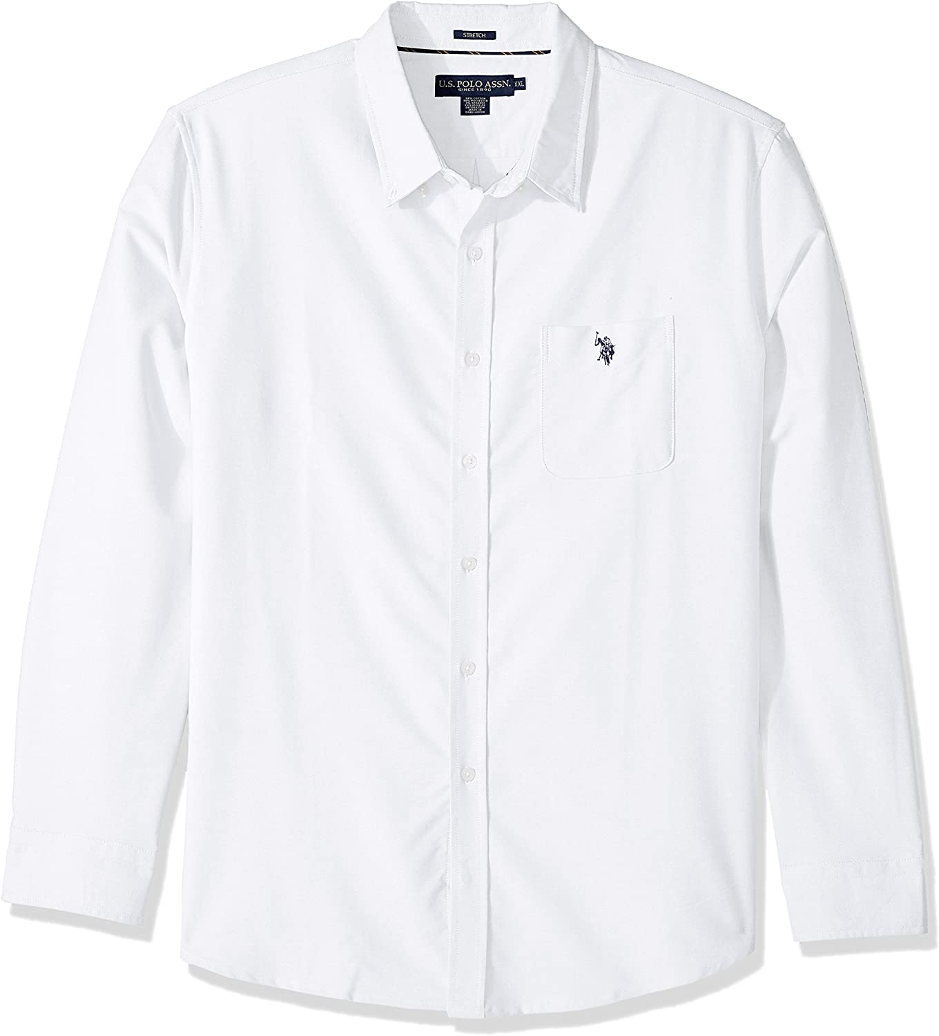 U.S Mens Long Sleeve Classic Fit Solid Shirt Polo Assn