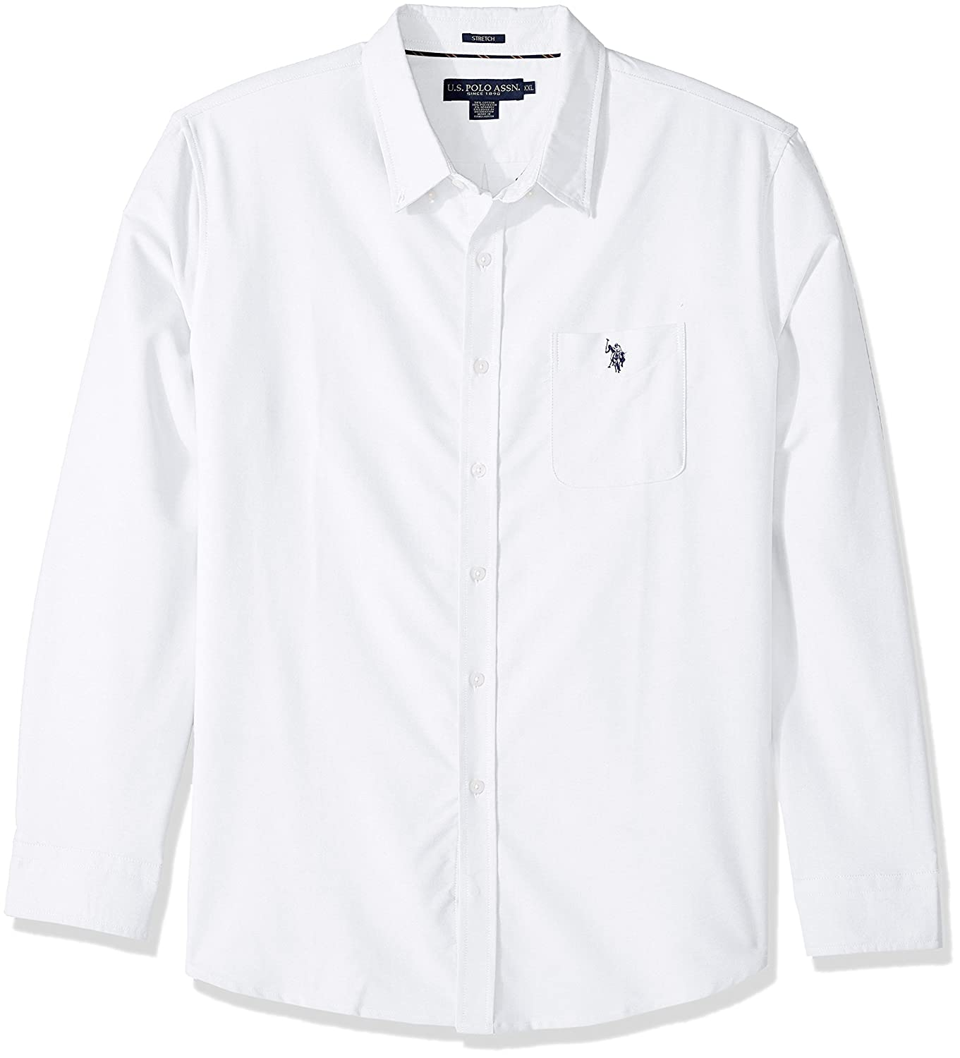 Us Polo Assn Mens Long Sleeve Classic Fit Solid Shirt At Amazon