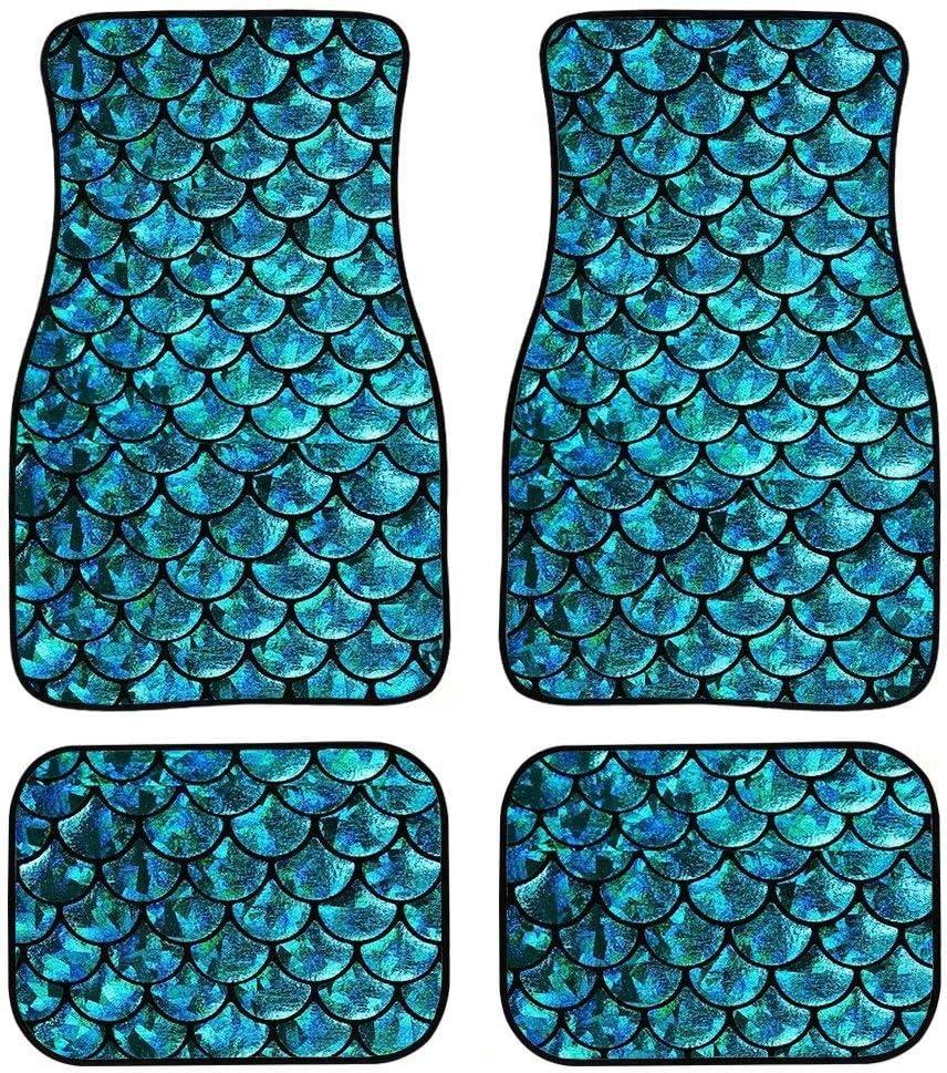 Advocator Blue Butterfly Print Floor Mats for Car,Truck,SUV /& Van All Weather Liners,4 Piece Set Kick Mat for Women