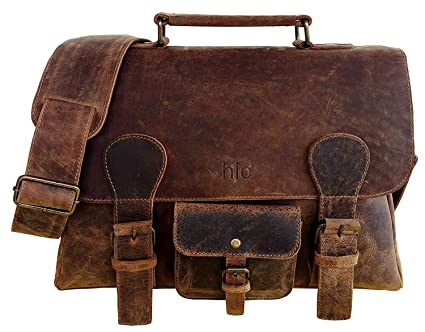 d4e7acf142cc Image Unavailable. Image not available for. Color  Leather Laptop Briefcase  ...