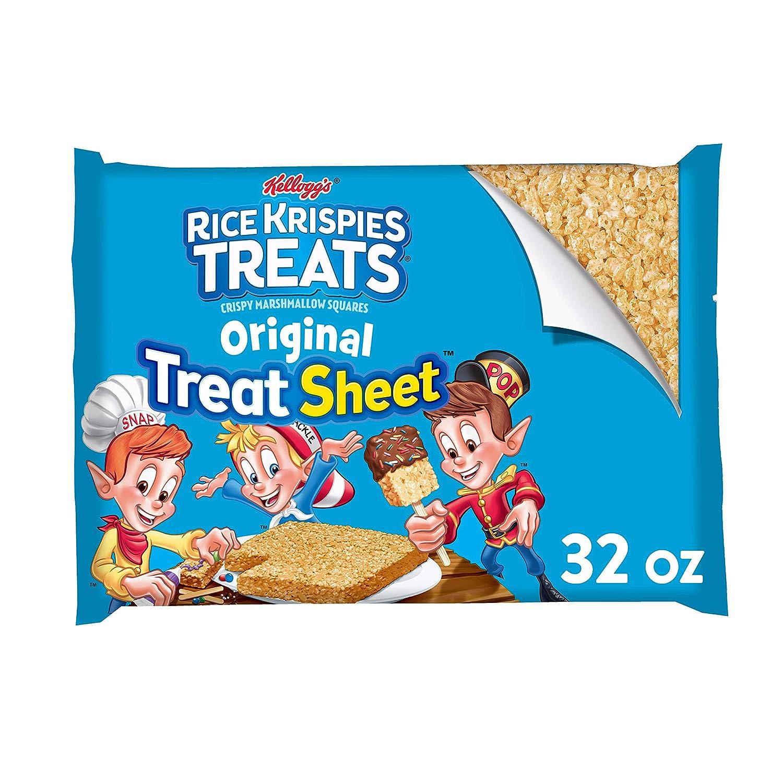 Kellogg's Rice Krispies Treats, Crispy Marshmallow Squares, Original, Fun Sheet, 32 oz Sheet