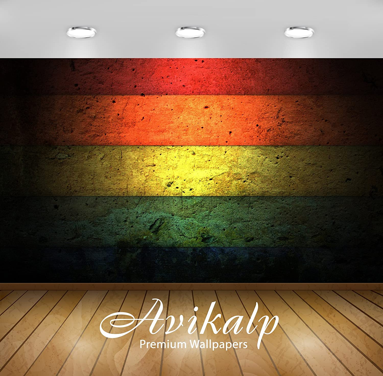 Buy Avikalp Colorful Stripes On The Wall Full Hd Wallpapers Wall Stickers 3 X 2 Ft Awi4199 Online At Low Prices In India Amazon In