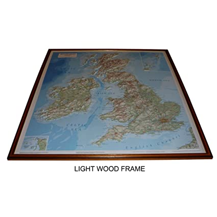 3d Relief Map Of Uk.Raised Relief Map Of The British Isles 32 X 29 With Free 3d Card