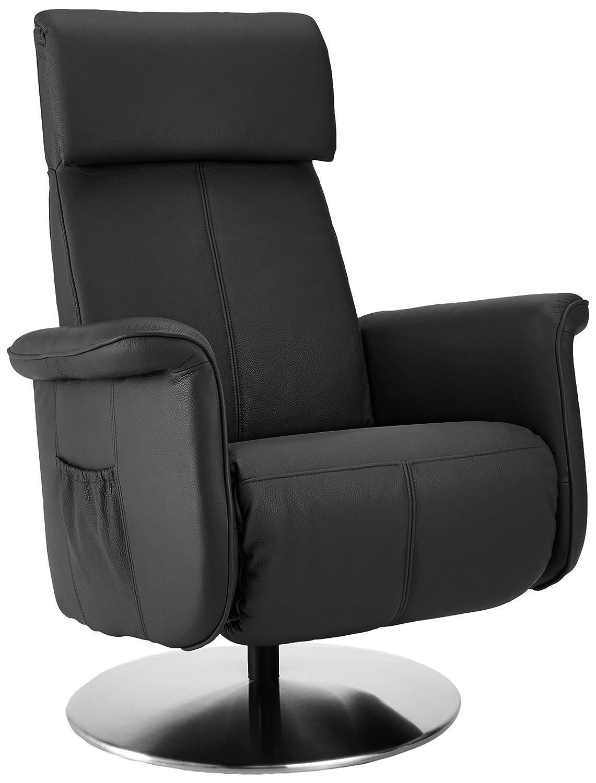 Sino-Living SE-821 Relax und Ruhesessel mit manueller Verstellung, dickleder / schwarz