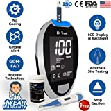 Dr Trust (USA) Fully Automatic Blood Sugar Testing Glucometer Machine with 60 Strips and Digital Thermometer