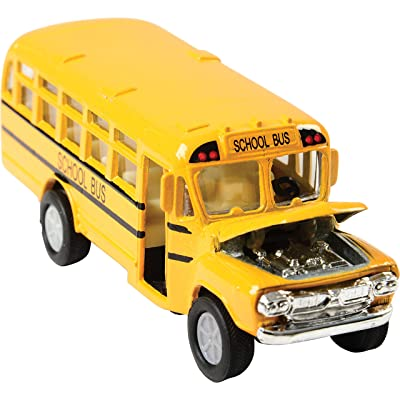 """US Toy Die Cast Metal Toy School Bus, 5"""": Toys & Games"""