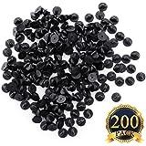 SUBANG 200 Count Pin Backs PVC Rubber Pin Keepers, Black